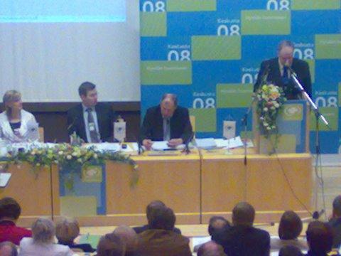 Keskustan puoluevaltuuskunta 26.4.2008