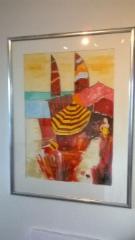Nizza 70cm x 45 cm, akvarelli