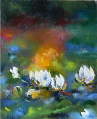 Lilies, 2012, oil on canvas, 60 x 60 cm
