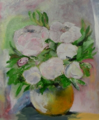 Peonies, 2015 oil on canvas 50 x 61 cm