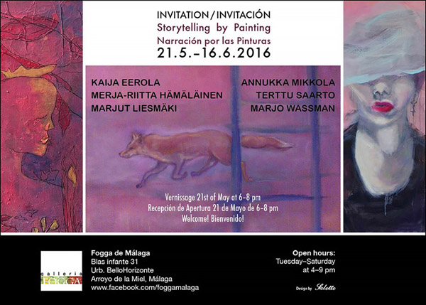 Storytelling by painting, Fogga de Malaga Spain