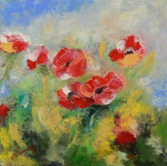 Poppies, 2016 oil on canvas 50 x 50 cm