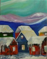 Aurora alley, 2018 oil on canvas 54 x 69 cm