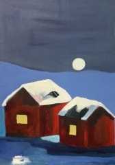 Moonlight, 2019 oil on canvas 45 x 65 cm