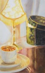 Hattulaatikon tarpeellisuudesta, v. 2011, öljy kankaalle, 65 x 98cm, 1630€, Asta Caplan