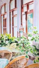 Mysore-watercolours 15, v. 2013, vesiväri paperille, Asta Caplan