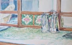 Mysore-watercolour 11, 2013, vesiväri paperille, 27,3 x 17,3cm, 430€, Asta Caplan