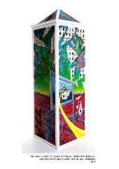 """The Land Divided (The Dream of the House) / Jaettu Maa (Talon Uni)"", 220x65x65cm, ROP, v. 2011"