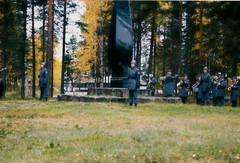 Revelation of Kollaa memorial in Kontioranta in 1989.