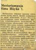 Announcement of Simo Häyhä's fall.