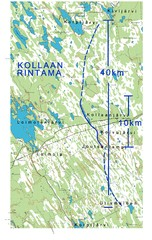 Map from Kollaa front (picture: Kari Jylhä)