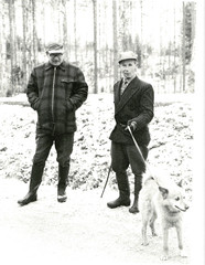 Guiding president Urho Kekkonen in Karoniemi in the year 1963.