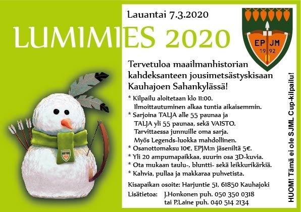 lumimies kutsu 2020