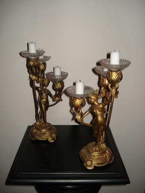 Art Noveau -kynttilänjalat