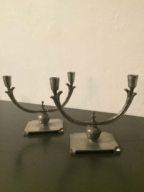 Ruotsalaiset Art Deco kynttilänjalat