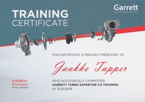 Jaakko_Tapper_Garrett_certificat_15_Training.jpeg