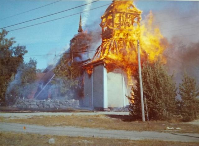 Vanhan kirkon palo 2.8.1968