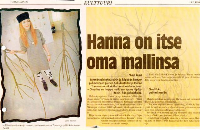 Pieniä naisen tapahtumia, Joella, Turku 96