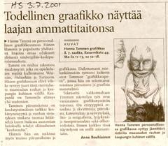 Eläimellistä, Kuvataideakatemian Galleria 2001