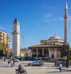tirana_skenderbeg_square_mosque_and_clock_tower._photo__hannu_sinisalo