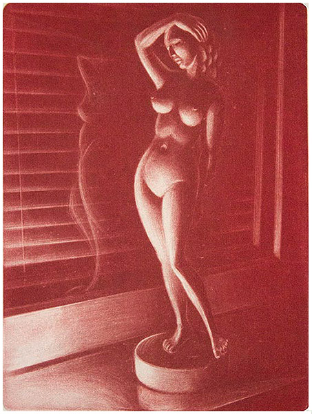 Venus, mezzotinto 15 x 20 cm, vedoksia 14 kpl. Hinta 180 €