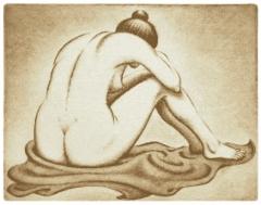 Selin, kuivaneula 37,5 x 29 cm, vedoksia 8 kpl. Hinta 280 €