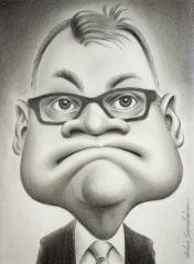 Juha Sipilä, grafiittikynä, 30x40 cm.