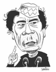 Muammar Gaddafi, tussi A4. Hinta vastaavasta 180 €