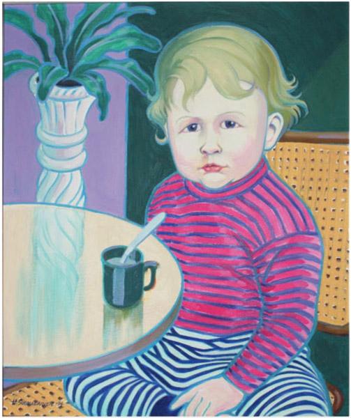 Janne, muotokuvamaalaus, öljyväri