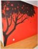 Kirsikkapuu -seinämaalaus 300 x 250 cm. Hinta vastaavalle 700-2000 €. Pyydä tarjous