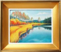 Ruska Karjolammella, öljyväri 37 x 32 cm. Hinta 300 €