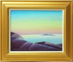 Hiljainen meri, öljyväri 30 x 26 cm. Hinta 200 €