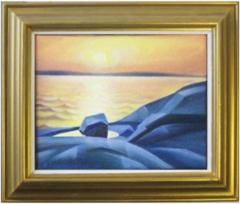 Merta ja valoa, öljyväri 30 x 26 cm. Myyty