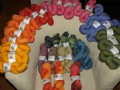 Puffa-lankojen väri-ilottelua