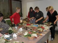 Havutyökurssilaisia Heinolatalolla jouluk 2011