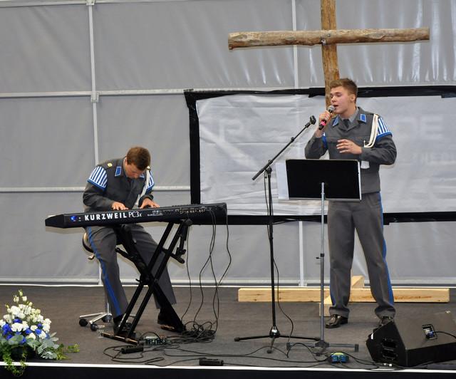 Kaartinjääkärit Elias Kaskinen ja Peter Niemi
