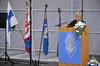 Ministeri Elisabeth Rehn piti juhlapuheen