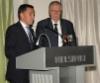 Sotaveteraani Antti Henttonen esitti veteraanien tervehdyksen ja kansanedustaja Wille Rydman toi nuoremman ikäpolven tervehdyksen