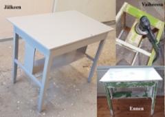 Maalattu pöytä