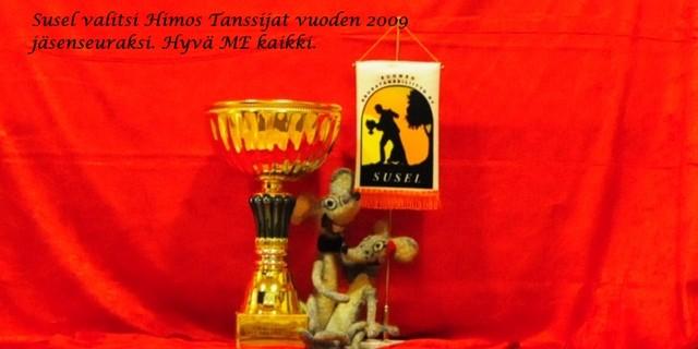 Vuoden 2009tanssiseuran kiertopalkinto.