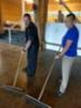 Parketin puhdistusta Honkahovissa