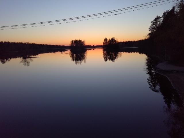 Kuvattu sillalta pohjoiseen 10.05.2018