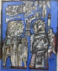 Figureeja sinisellä pohjalla - Figurer på blå botten