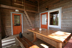 Terassi, sauna ja tupa.
