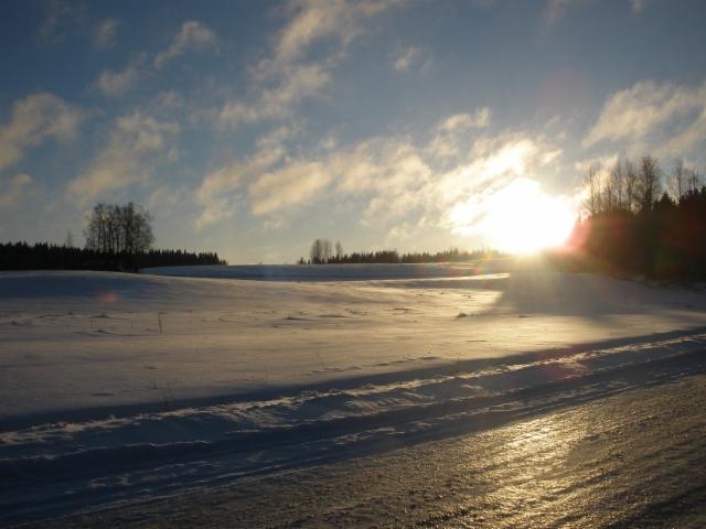 Pakkaspäivä Höytiällä 4.1.2017