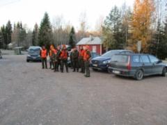 Höytiän Kyläkeskus 25.10.2020 P-alue.