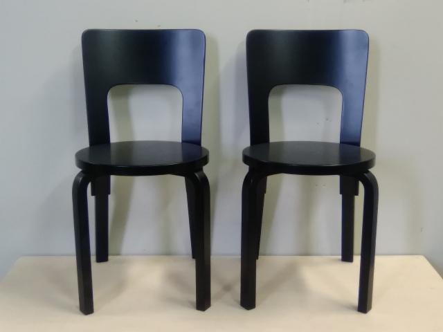 Aalto tuolit 66_musta