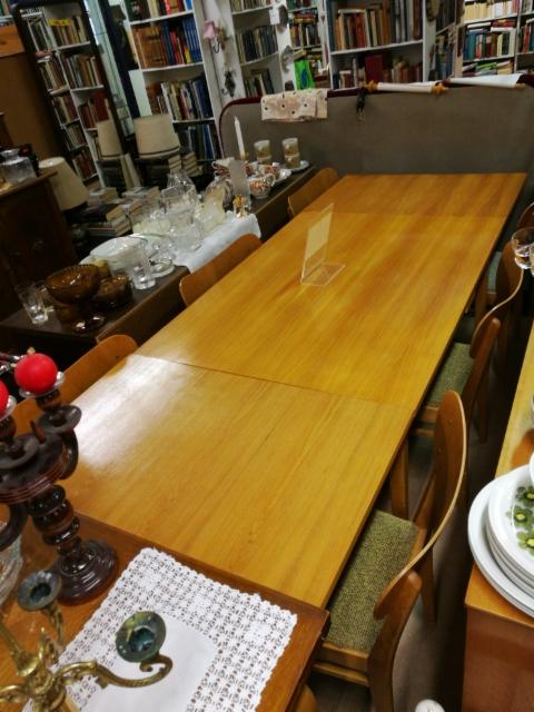 50-luvun ruokapöytä, 6 tuolia! 250,-€