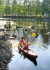 for sale paddlers in canoe on river in joensuu