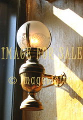 for sale brass lamp on wall